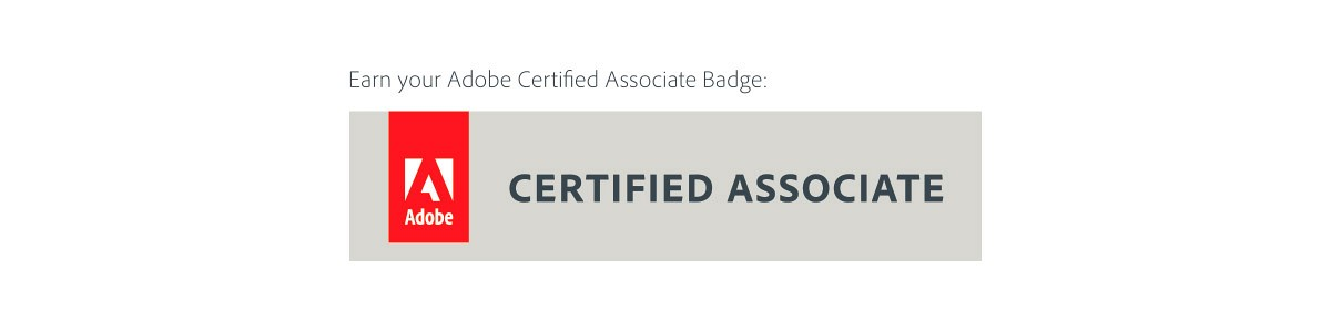 Adobe associate badge